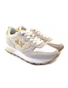 Sun68 Sneakers da Donna Ally Big Z31205 bianco oro