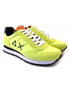 Sun68 Sneakers da Uomo Tom Solid Nylon Z31101 giallo fluo