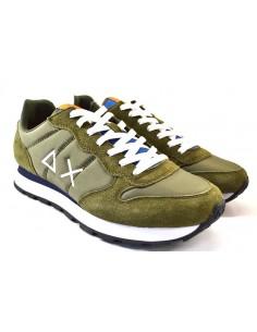 Sun68 Sneakers da Uomo Tom Solid Nylon Z31101 verde