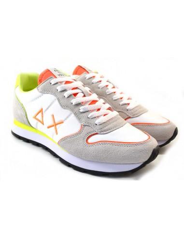 Sun68 Sneakers da Uomo Tom Nylon Z31102 bianco arancione