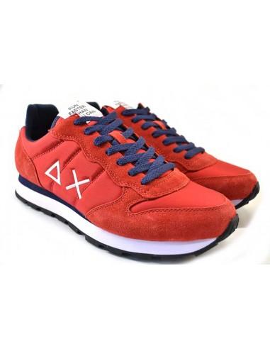 Sun68 Sneakers da Uomo Tom Solid Nylon Z31101 rosso