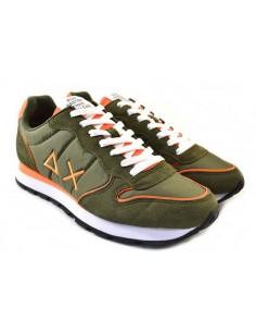 Sun68 Sneakers da Uomo Tom Nylon Z31102 verde