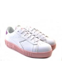 Diadora Sneakers da Donna Game Step GS 177376 bianco rosa