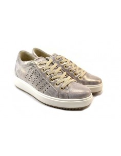 igi&co 7155122 taupe 0 scarpe donna pelle fondo gomma zeppa 3 5 cm plateau 3 cm