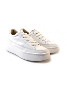 janet & janet 01050 bianco 0 scarpe donna pelle fondo gomma zeppa 4 5 cm plateau 3 cm